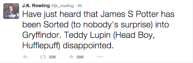 Oh, just J.K. Rowling RIPPING MY HEART OUT with this tweet.