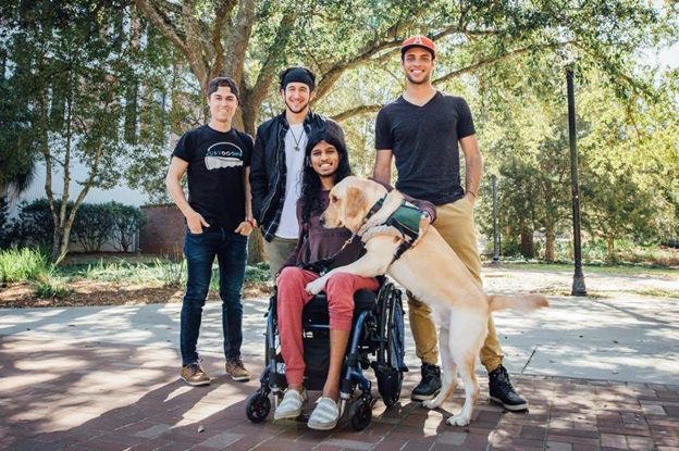 Ronny Ahmed's bathroom was made wheelchair accessible, when Explore Kindness went to visit Florida last year. Photo Credit: @ExploreKindness