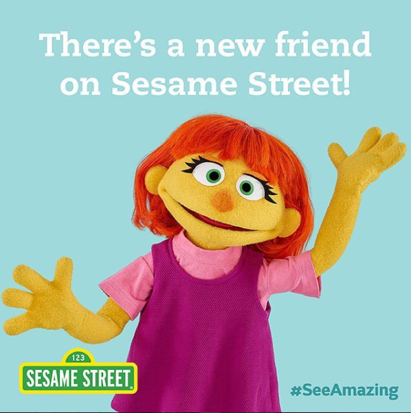 A new friend for a new generation of kids. (Image Credit: Instagram/@sesamestreet)