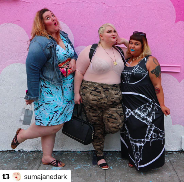 No one can make you laugh like a fellow fat woman. (Image: Instagram/ SumaJaneDark via MamaFierceBlog)