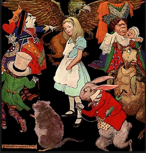 1923 Alice In Wonderland illustration by Jessie Willcox Smith. Wikipedia.org