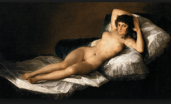 La maja desnuda (The Nude Maja; 1797) by Francisco de Goya y Lucientes. Courtesy of wikipedia.org