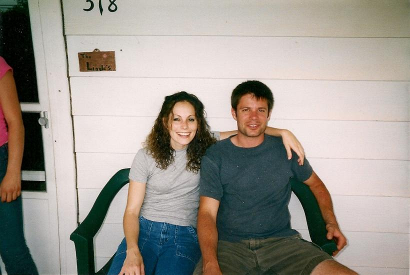 Jennifer Herbstritt (sister) and Jeremy Herbstritt on their aunt's front porch. (Courtesy of the Herbstritt family)
