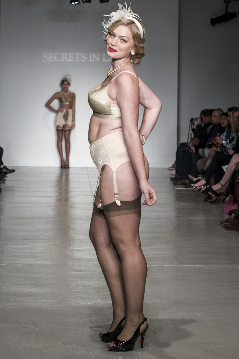 Nude lingerie runway show