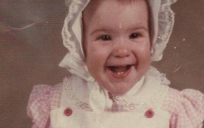 Here's a baby pic of only-child-me!
