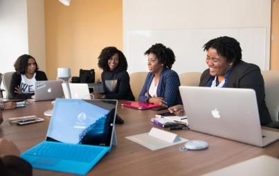 Black women led all women in the nation in the number of business startups and in revenue growth. Image: WOCinTech Chat.