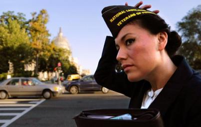 Laly Cholak arrives on Capitol Hill to lobby Congress on behalf of the Veterans of Foreign Wars