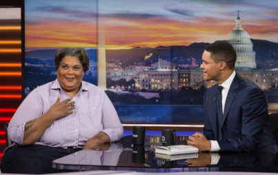Roxane Gay at a significantly less dreadful interview with Trevor Noah