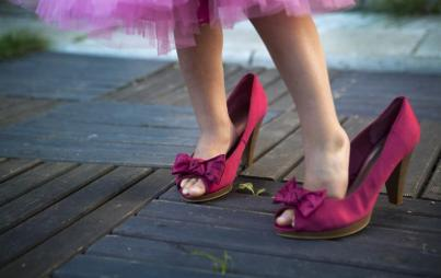 And my youngest daughter likes sparkly shoes. She likes pretty things. Image: Thinkstock.