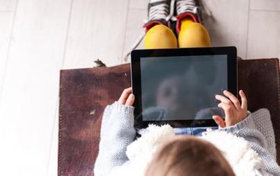 I am surprisingly unstressed about the amount of screen time our 1 year old is getting. Image: Thinkstock.