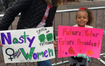 The Women's March was an incredible hands-on learning experience.