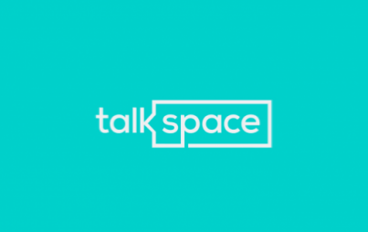 """Therapy for how we live today,"" said someone with the voice equivalent of the color ""light blue."" Image: Talkspace."