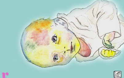 Rainbow Baby Franklin by Mariah Aro Sharp @mightymooseart