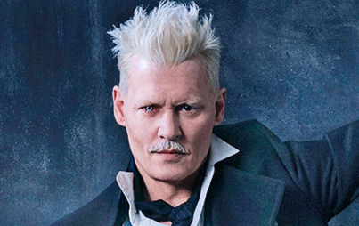 Johnny Depp as Grindewald (image credit Warner Brothers)