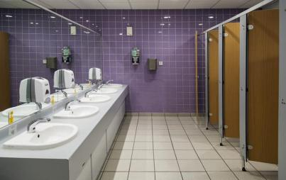 Inside the women's restroom, it's okay not to have it all together