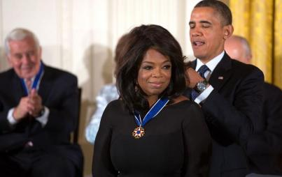 Oprah and The Pres. (Well the Used-To-Be Pres. Insert weeoping)