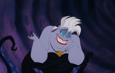 Ursula doesn't give a single fuck. Not one. (Also we don't own Ursula. Disney does. Image credit: Walt and his many lawyers.)